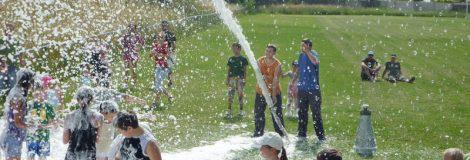 Pena pre deti, polievanie parku
