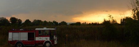 Nedeľné výjazdy k požiarom v Červeníku a Hlohovci