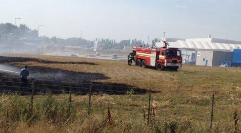 Požiar pri priemyselnom parku v Šulekove