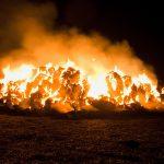 Požiar slamy pri Terezove